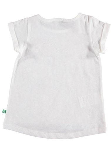 012 Benetton Tişört Beyaz